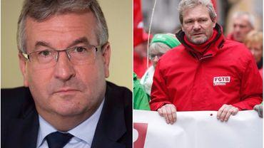 """""""Je ne me battrai pas pour ces emplois"""" de Zalando: quand le ministre Jeholet rejoint le syndicaliste Thierry Bodson"""