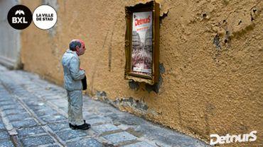 L'artiste espagnol Isaac Cordal dissémine ses petits personnages dans Bruxelles