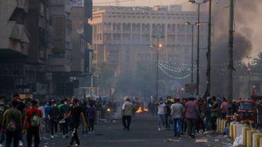 Heurts entre forces de sécurité et manifestants à Bagdad, le 9 novembre 2019