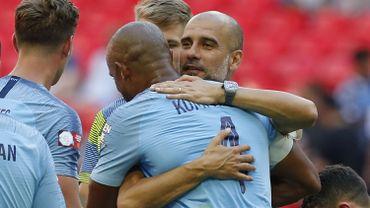 Vincent Kompany et Pep Guardiola