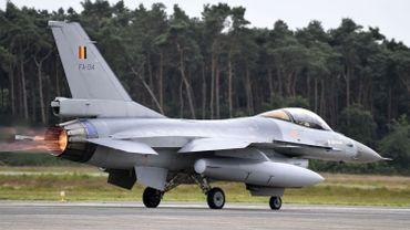Un F-16 de l'armée belge