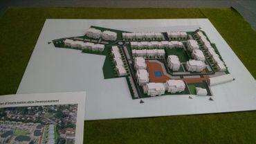 La maquette du futur village pour seniors à Ghlin