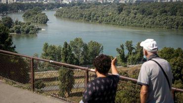 La rivière Sava rejoint le Danube à Belgrade, le 11 septembre 2020.