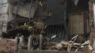 Le bâtiment effondré