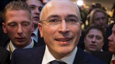 Mikhaïl Khodorkovski à Berlin le 22 décembre 2013