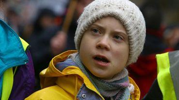 La jeune suédoise Greta Thunberg, lors d'une manifestation étudiante pour le climat, à Bristol (Angleterre), le 28 février 2020