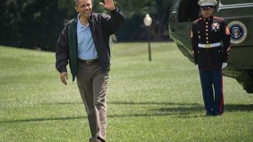 Barack Obama arrive à la Maison Blanche, le 4 août 2013 à Washington