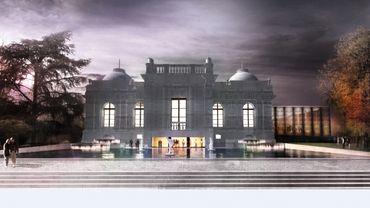 « previous Le futur CIAC de Liège. A l'avant plan, le bassin des sculptures, et sur la droite, la nouvelle extension vitrée.