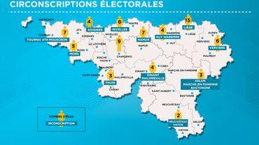 L'état actuel des circonscriptions électorales en Wallonie