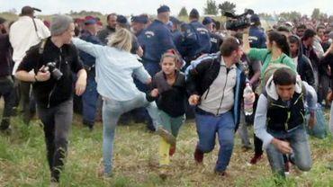 Le croc-en-jambe de Petra Laszlo (2eG) a été filmé le 8 septembre 2015 à Roszke (Hongrie)