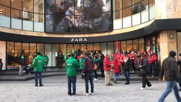 Le Zara de la rue Neuve fermé en raison d'une action syndicale