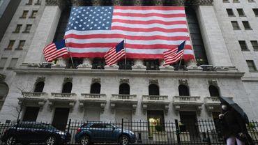 La Bourse de New York à Wall Street, le 23 mars  2020 à New York City.