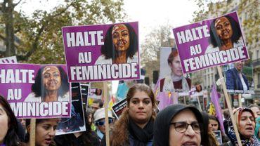 Une marche contre les féminicides à Paris en 2014