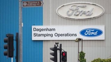 L'entrée de l'usine Ford de Dagenham à l'est de Londres, le 25 octobre 2012