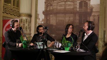 Philippe Raskin, George Tudorache, Brigitte Mahaux et Vincent Delbushaye lors de la Journée des Prodiges
