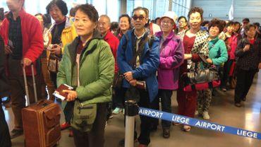 Les touristes chinois sont arrivés à Liège Airport