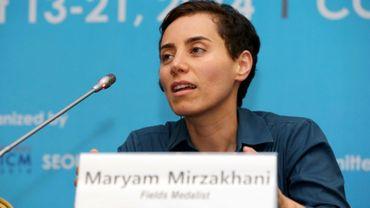 Photographie fournie par l'ICM (Congrès international des mathématiciens), de Maryam Mirzakhani, mathématicienne iranienne et première femme lauréate de la médaille Fields, le 13 août 2014 à Séoul
