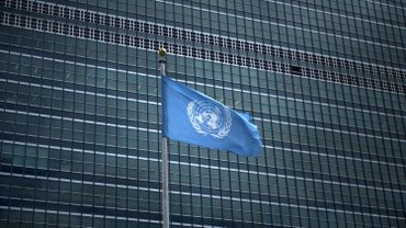 Drapeau des Nations Unies.