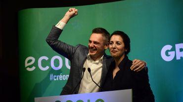 Les co-présidents d'Écolo heureux de la vague verte