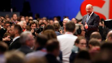 Martin Schulz, le 7 décembre 2017 à Berlin au congrès du SPD