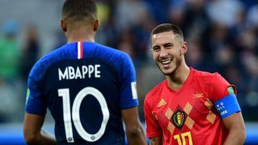 Eden Hazard et Kylian Mbappé