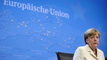 Angela Merkel, à Bruxelles, lundi 13 juillet.