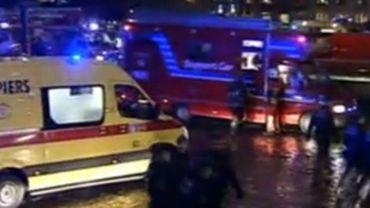 15 véhicules de secours étaient présents mercredi en fin d'après-midi.