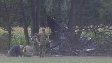 Ce qu'il reste du F16 après le crash