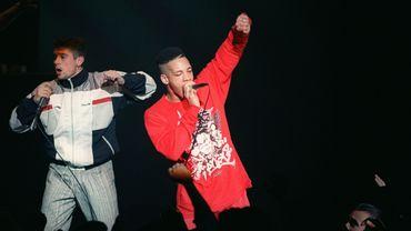 JoeyStarr (D) et Kool Shen, les chanteurs du groupe de rap NTM.