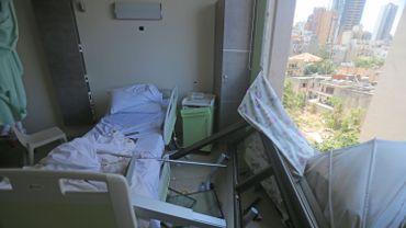 Vue d'une chambre de l'hopital de Wardieh à Beyrout