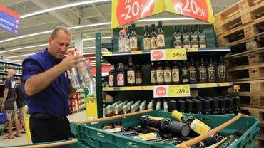 L'alcool est retiré des rayons des magasins