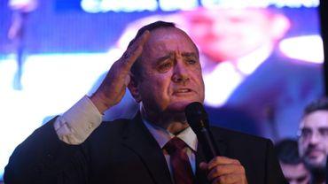 Le nouveau président conservateur du Guatemala, Alejandro Giammattei, le 11 août 2019 à Ciudad de Guatemala