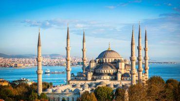 La mosquée bleue d'Istanbul.