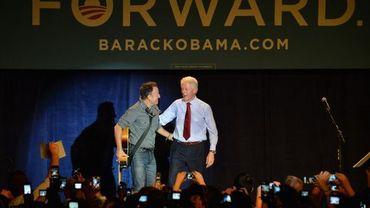 Bruce Springsteen et Bill Clinton dans l'Ohio
