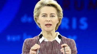 La présidente de la Commission européenne Ursula von der Leyen le 12 novembre 2019 à Paris
