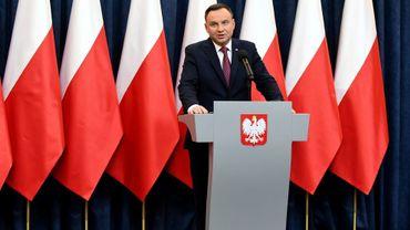 Le président polonais Andrzej Duda, le 20 décembre 2017 à Varsovie