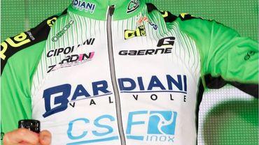 Le cycliste Bresciani (Bardiani) contrôlé positif après sa seule course chez les pros