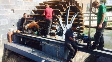 La roue à aubes du moulin du Velupont (Photos RTBF M. Mélon)