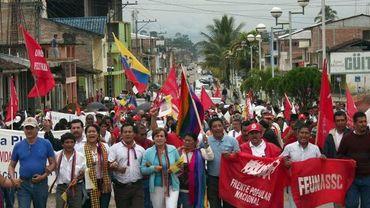 Les Indiens en marche contre Rafael Correa