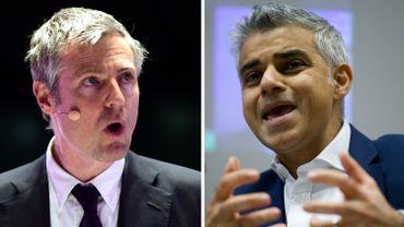 Les candidats conservateur, Zac Goldsmith, et travailliste, Sadiq Khan.