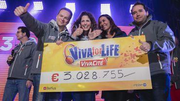 Record battu pour la 3e édition de Viva for Life: plus de 3 millions d'euros récoltés