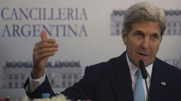 Le secrétaire d'Etat américain, John Kerry, le 4 août 2016 en déplacement à Buenos Aires