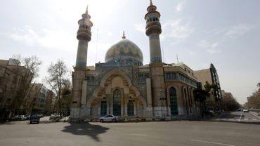 Une mosquée de Téhéran, le 13 mars 2020