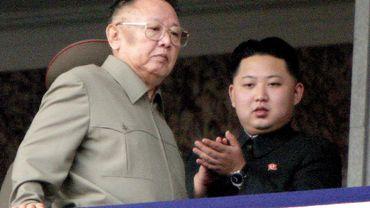 Kim Jong-il et son fils cadet Kim Jong-un