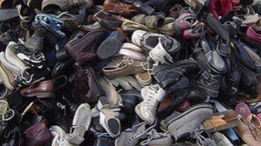 Des milliers de chaussures qu'il a fallu évacuer aux frais de la commune (photo prétexte)
