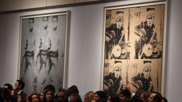Deux sérigraphies de Warhol vendues 150 millions de dollars à New York