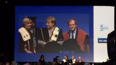 Angela Merkel, docteur honoris causa de la KUL et de l'UGent
