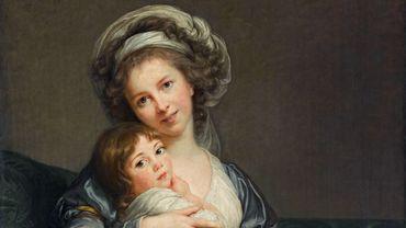 """Elisabeth Louise Vigée Le Brun, Portrait de l'artiste avec sa fille, dit """"La Tendresse maternelle"""" - 1786"""