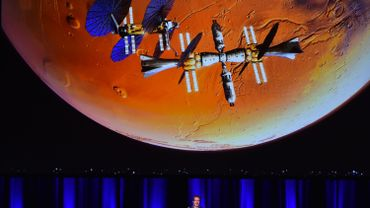 Le millionnaire Elon Musk lors d'une conférence.