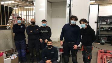 Elèves de 7 ème professionnelle Chauffagistes/Plombiers de l'UT